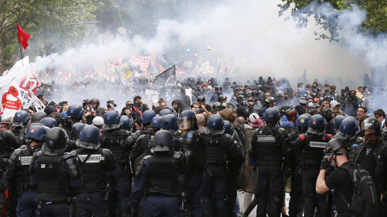 Demonstrace v Paříži