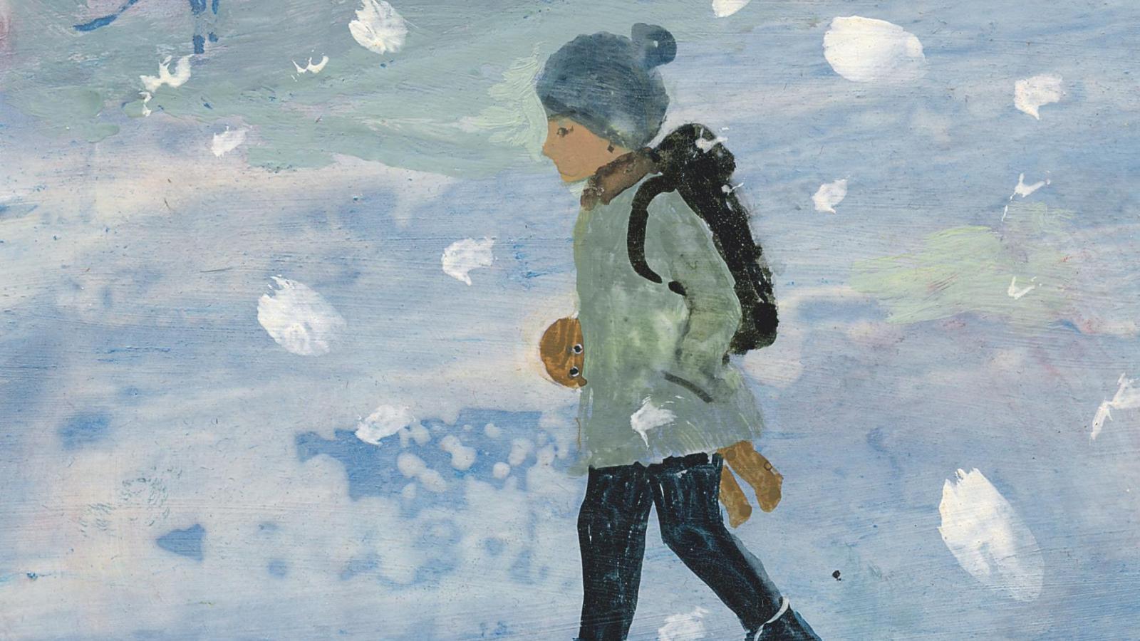 Ilustrace Daisy Mrázkové ke knize Můj medvěd Flóra