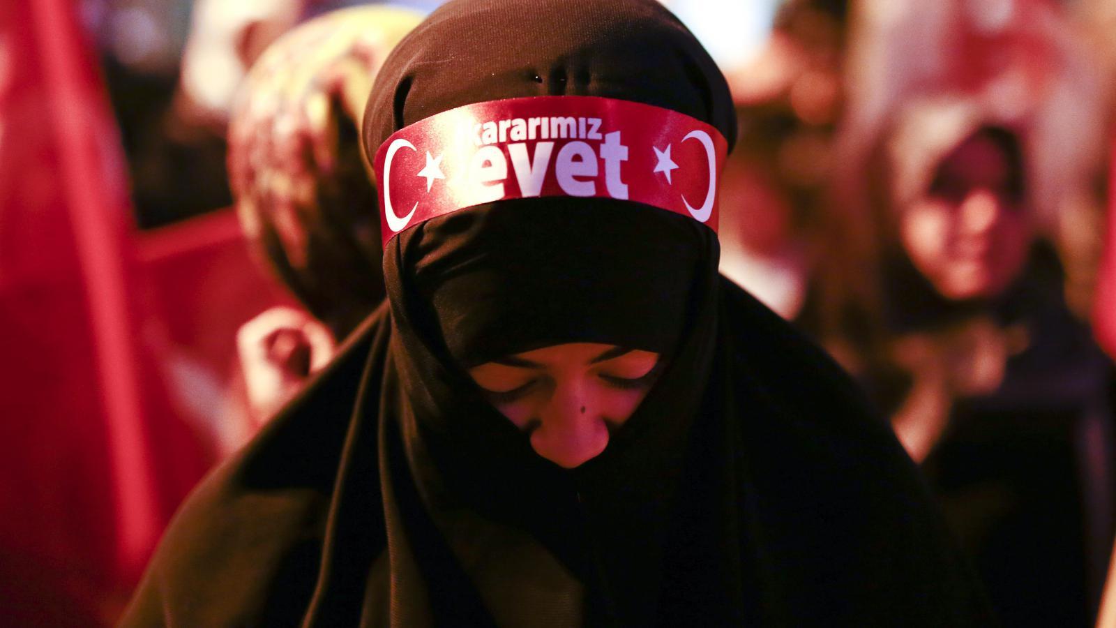 Podporovatelka prezidenta Erdogana