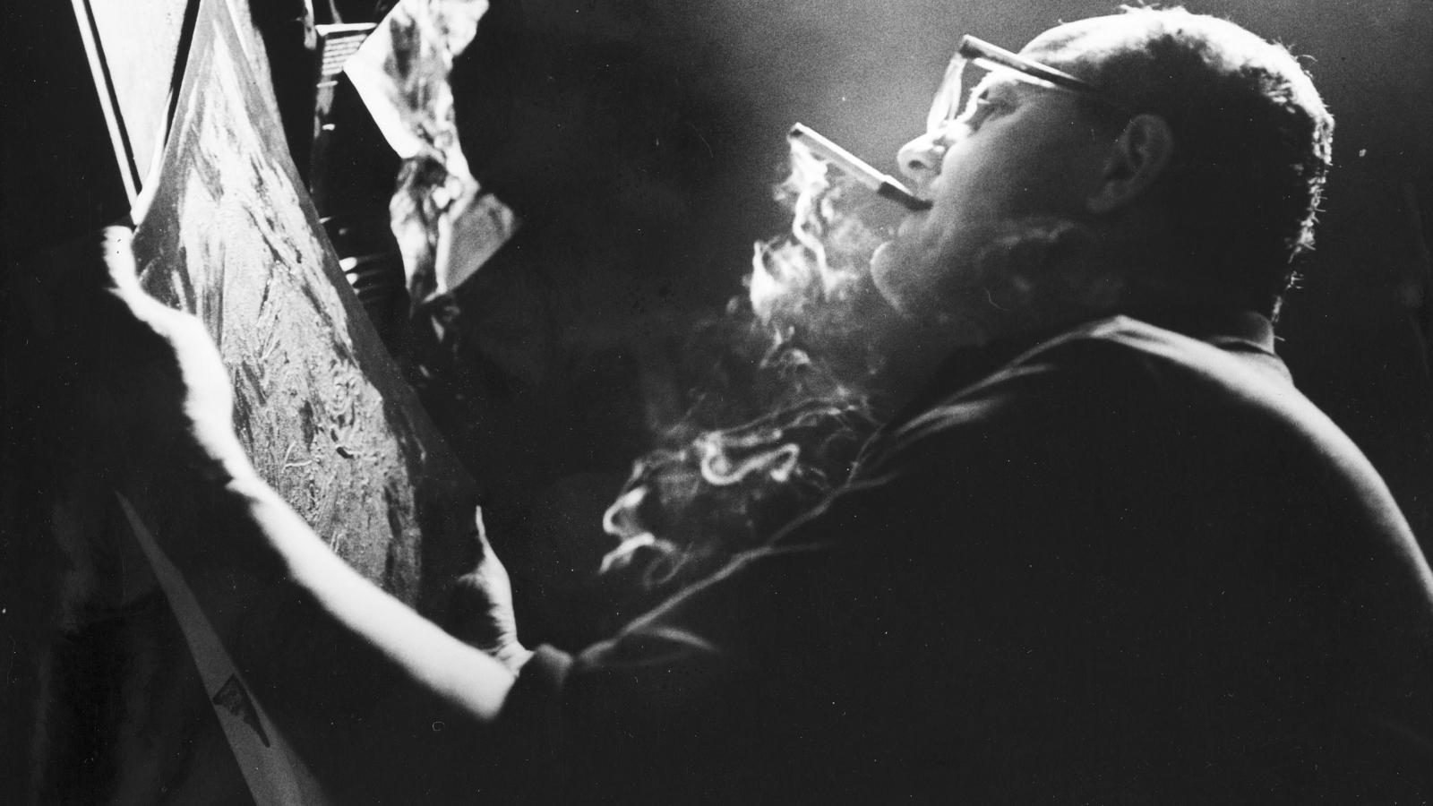 Vladimír Boudník na fotografii Ladislava Michálka, 1967