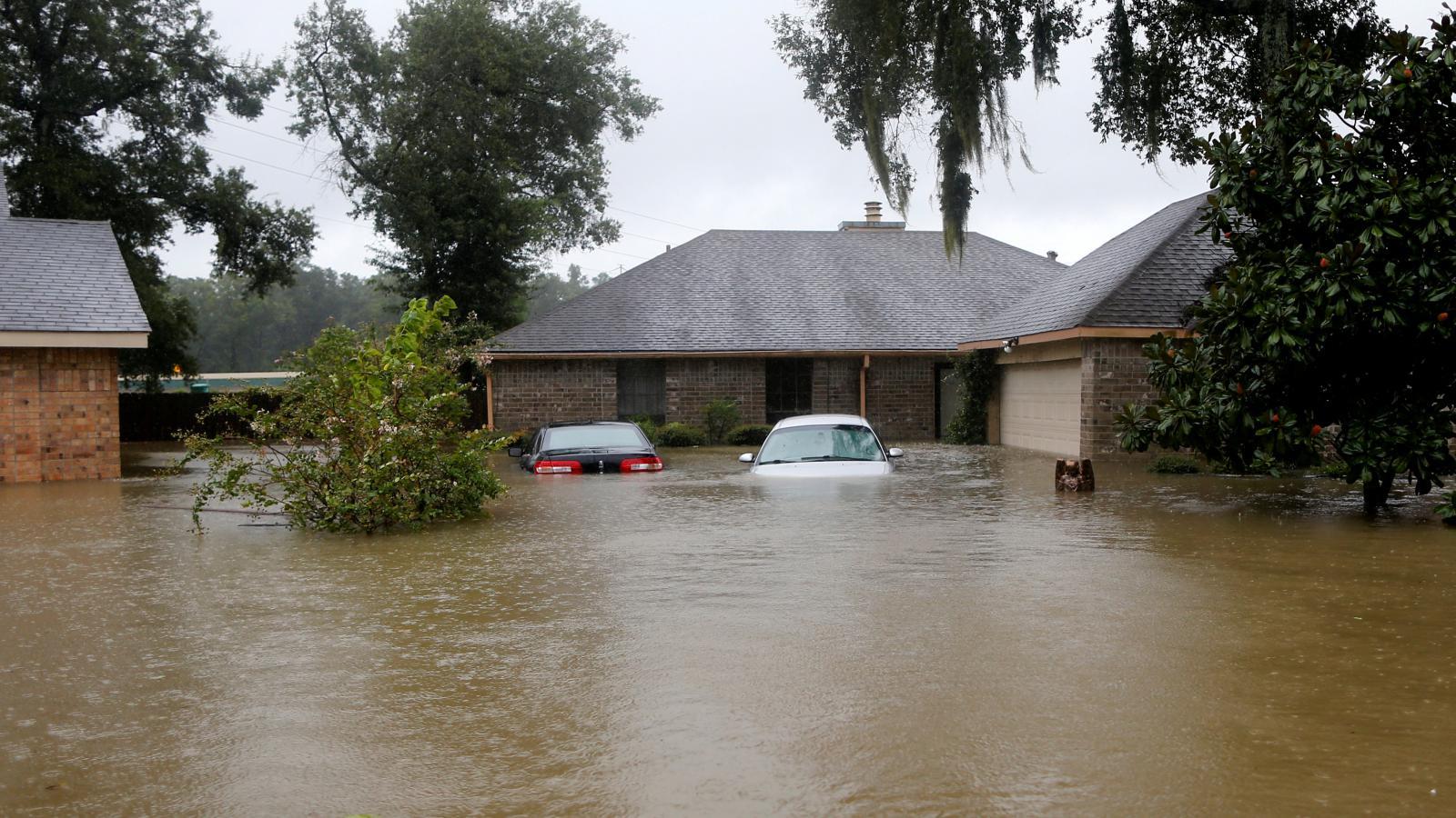 Zatopené domy v Houstonu