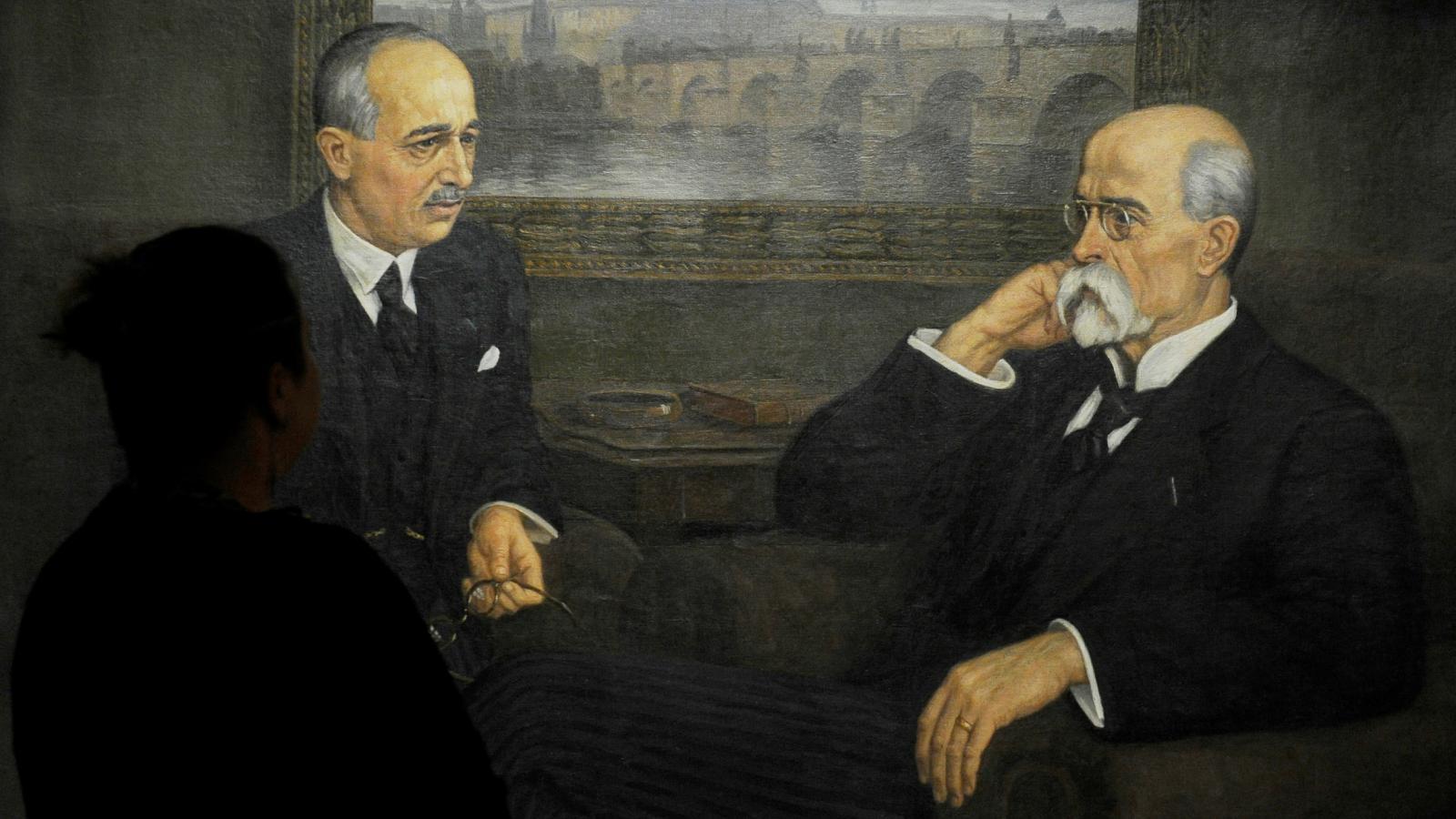Edvard Beneš a TGM na obrazu z kanceláře guvernéra Podkarpatské Rusi
