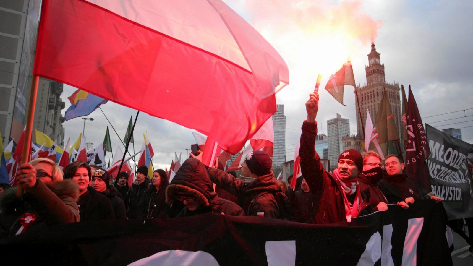 Akce radikálních nacionalistických skupin ve Varšavě