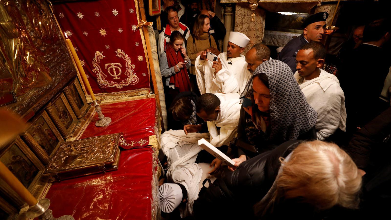 Vánoce pravoslavné církve v Betlémě