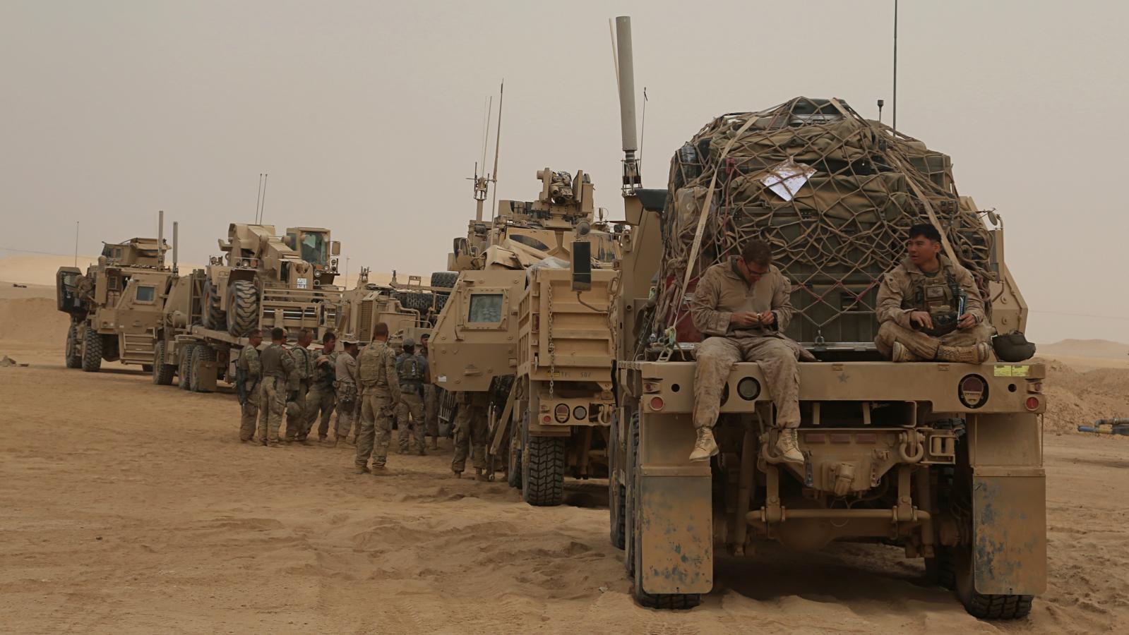 Americká armáda v Iráku v listopadu 2017