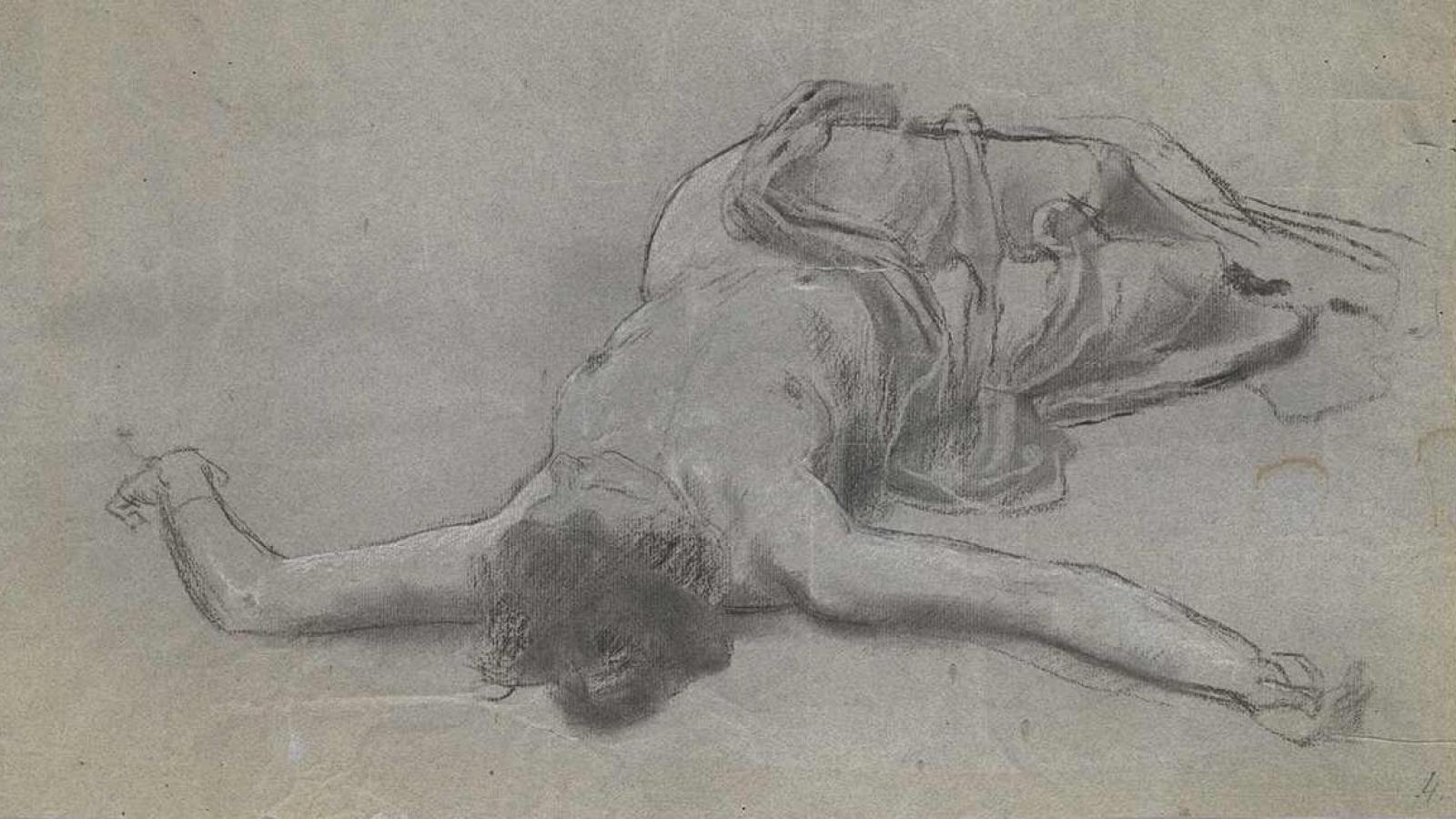 Jan Preisler, Studie k Jarnímu večeru, nedatováno (1898).
