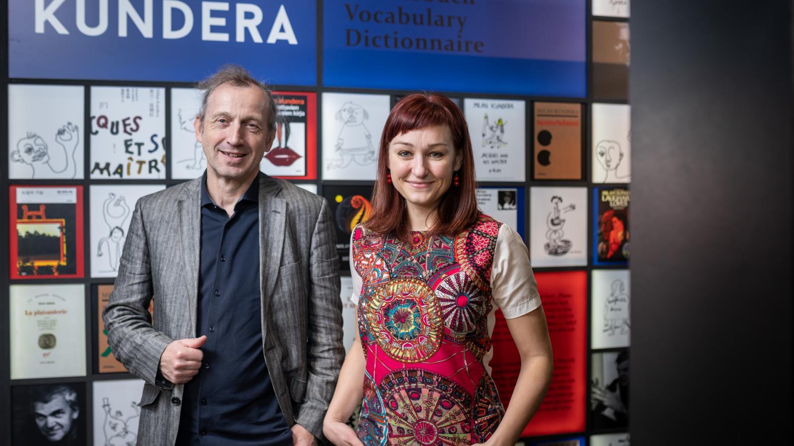 Martin Vopěnka a Kateřina Tučková na veletrhu v Lipsku