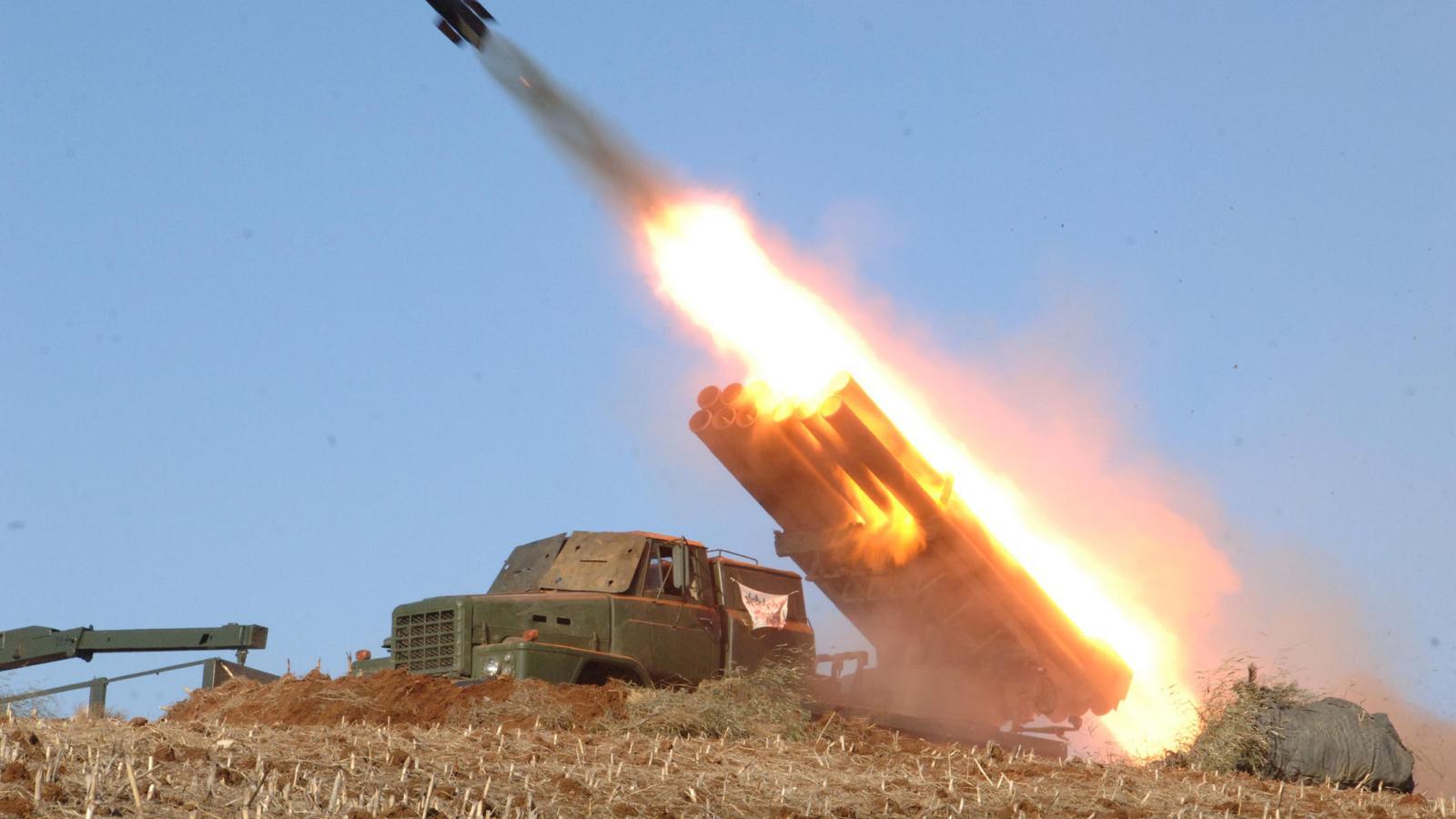 Test rakety v KLDR