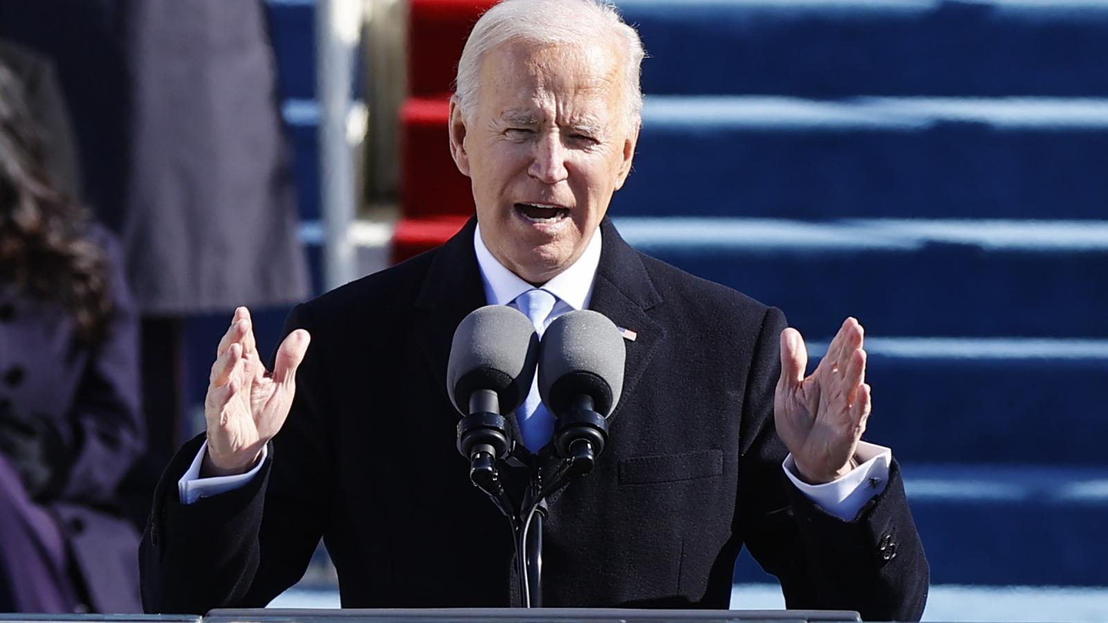 Projev nového amerického prezidenta Bidena