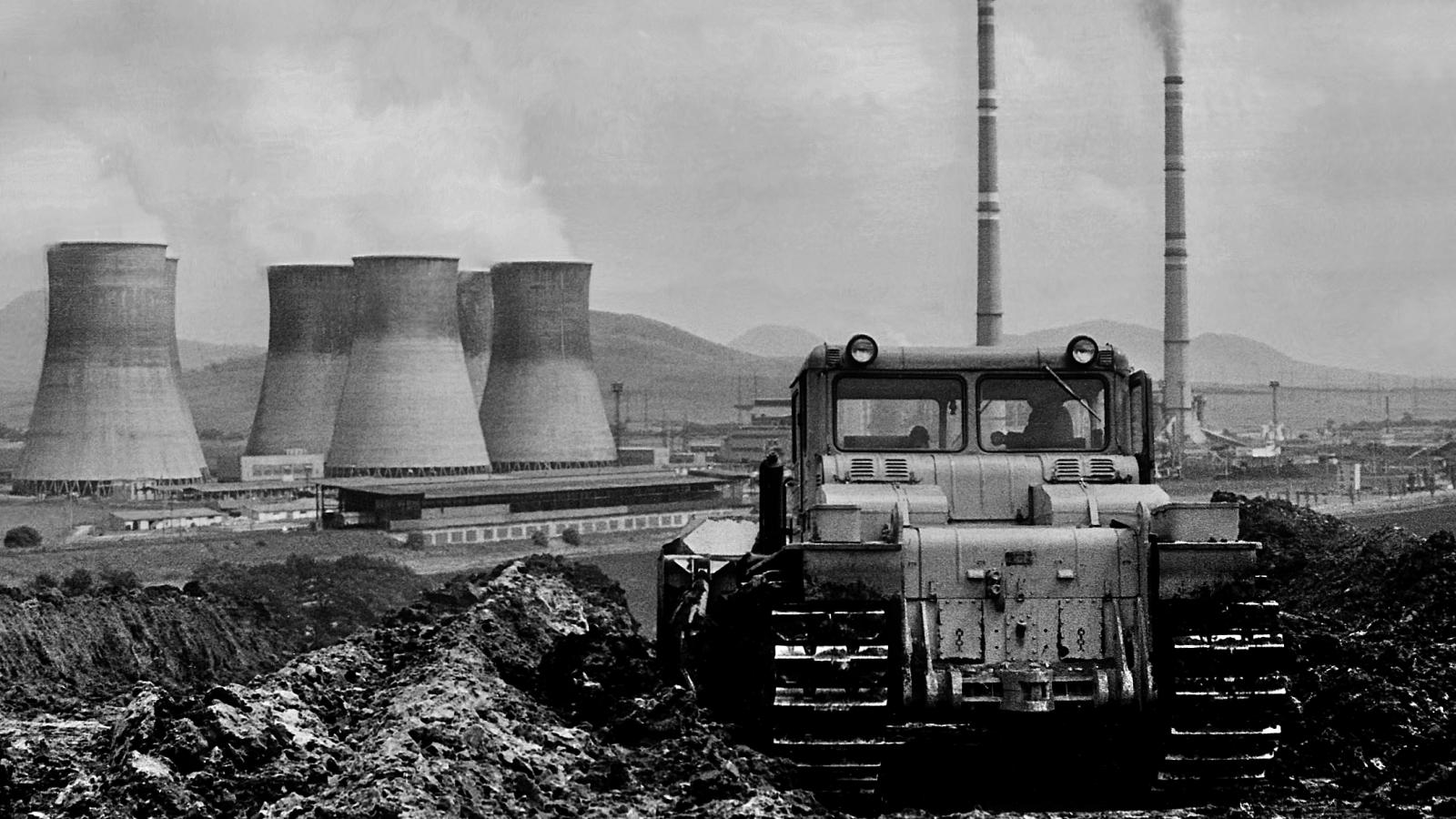 Fotografie z roku 1978 - výsypka lomu Třískolupy