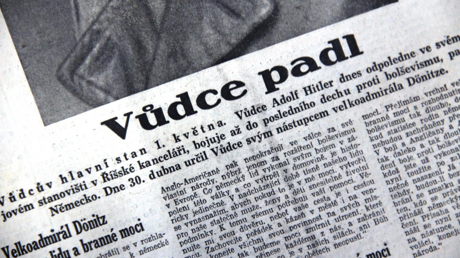 Smrt Adolfa Hitlera v českém tisku