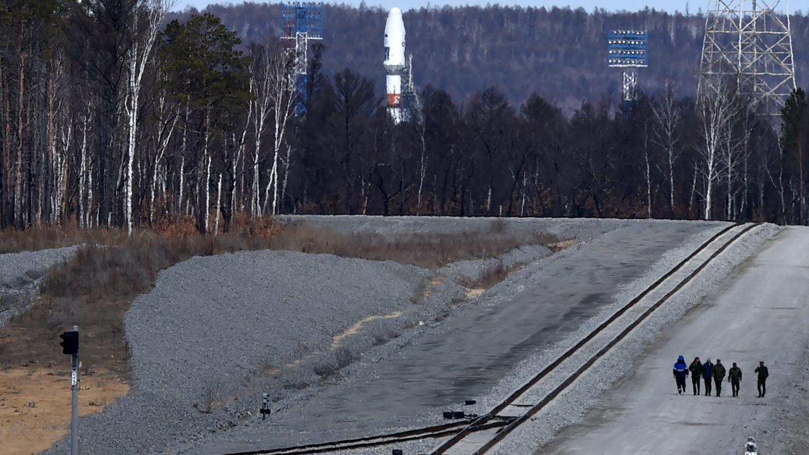 Sojuz čeká na svůj první start z kosmodromu Vostočnyj
