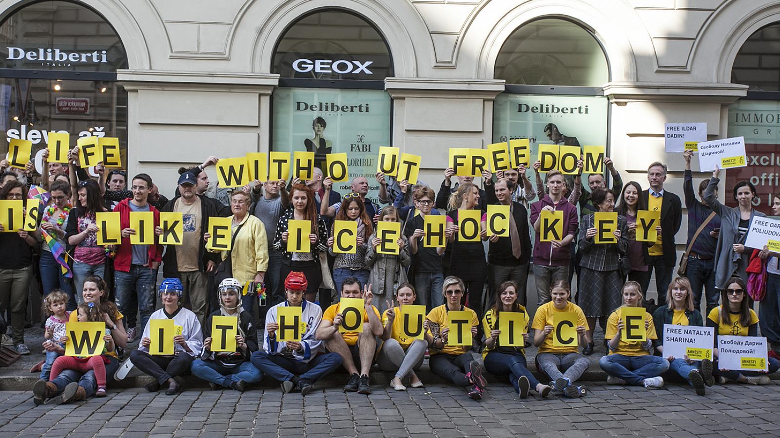 Hapenning Rusko versus lidská práva