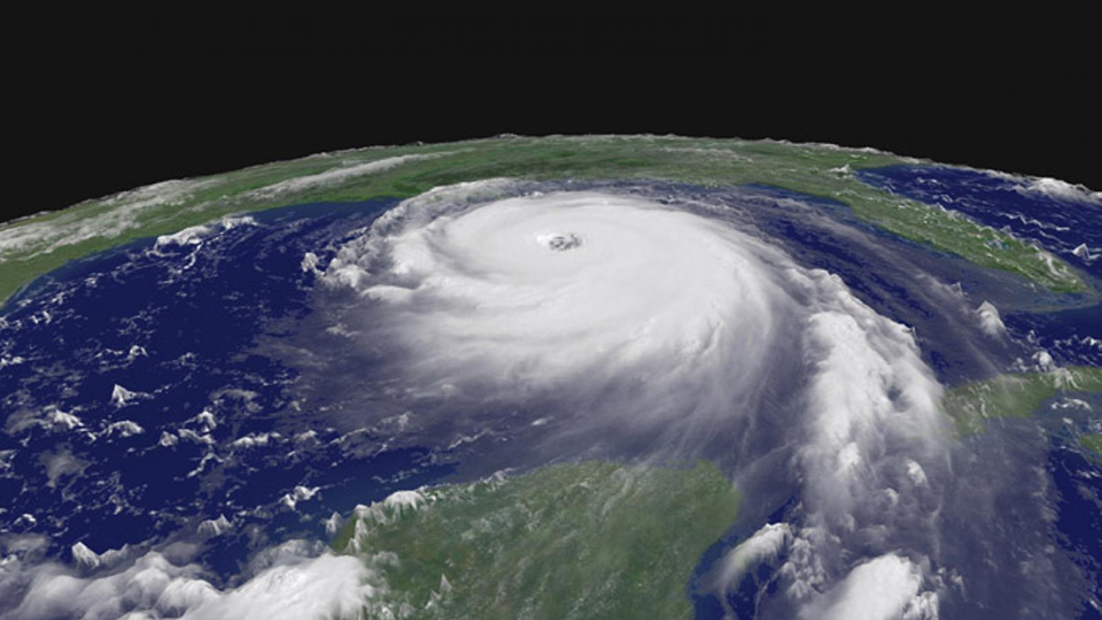 Hurikán Katrina na snímku ze satelitu NOAA