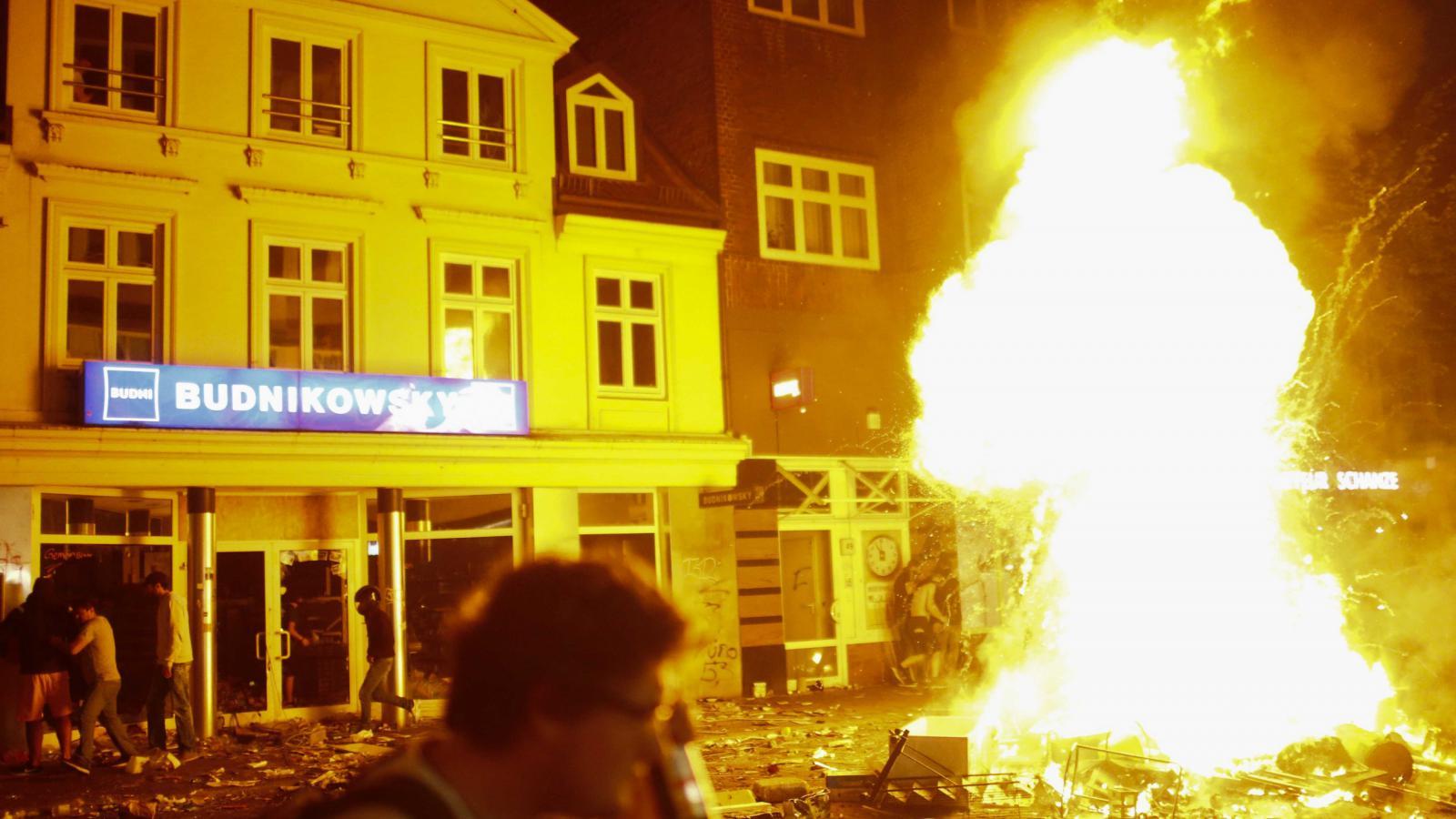 Pouliční nepokoje během summitu G20 v Hamburku