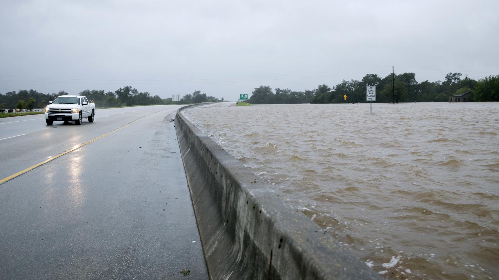 Bariéry zadržující vodu v Houstonu