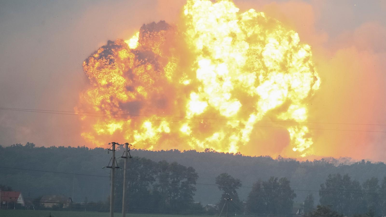 Výbuch muničního skladu u Kalynivky