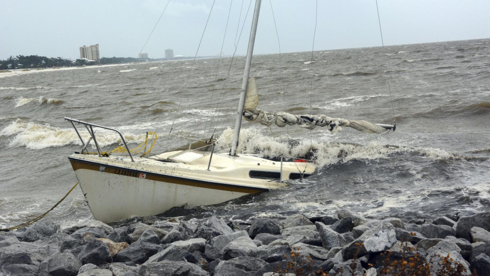 Hurikán Nate v Biloxi