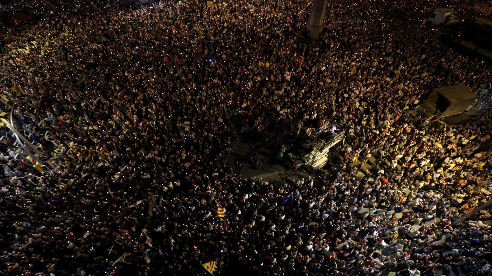 Demonstrace v Barceloně kvůli zadržení separatistických politiků