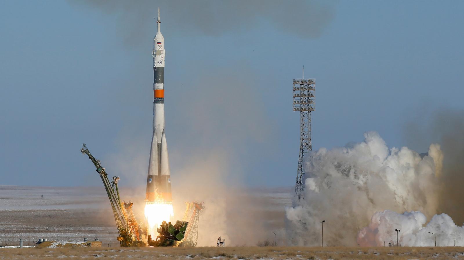 Z Bajkonuru odstartovala kosmická loď s novou posádkou ISS