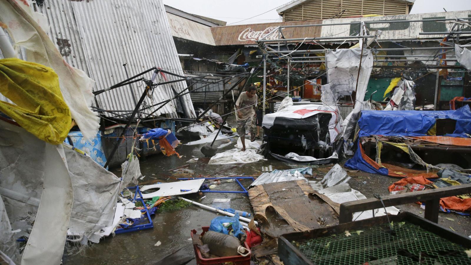 Následky tajgunu Mangkhut ve městě Tuguegrao