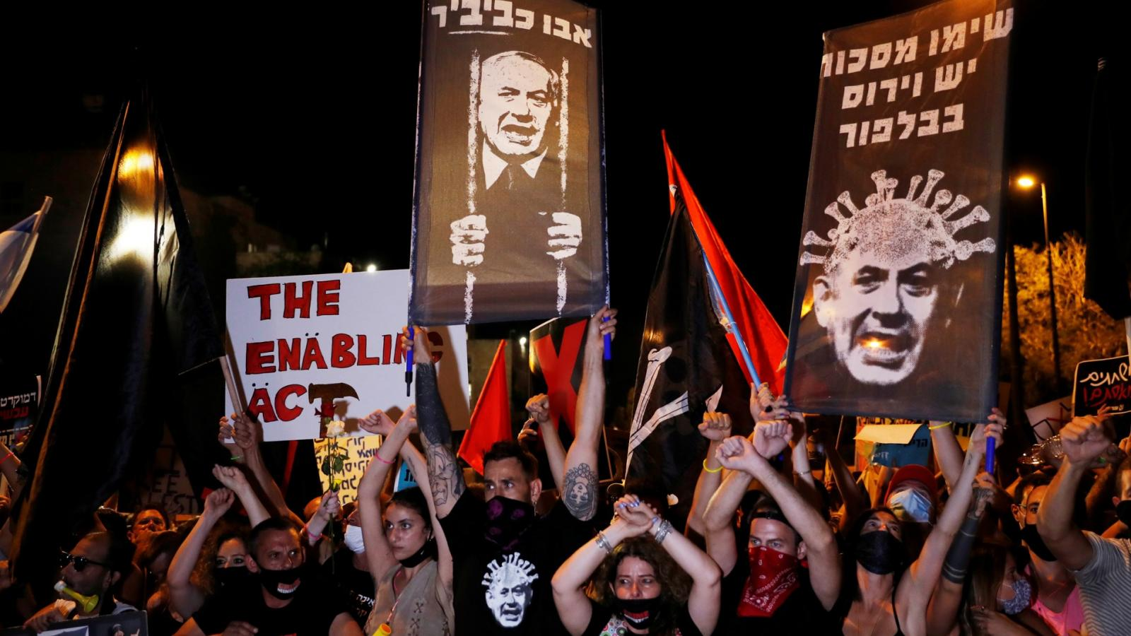 Demonstrace v Jeruzalémě za odstoupení předsedy vlády Benjamina Netanyahua