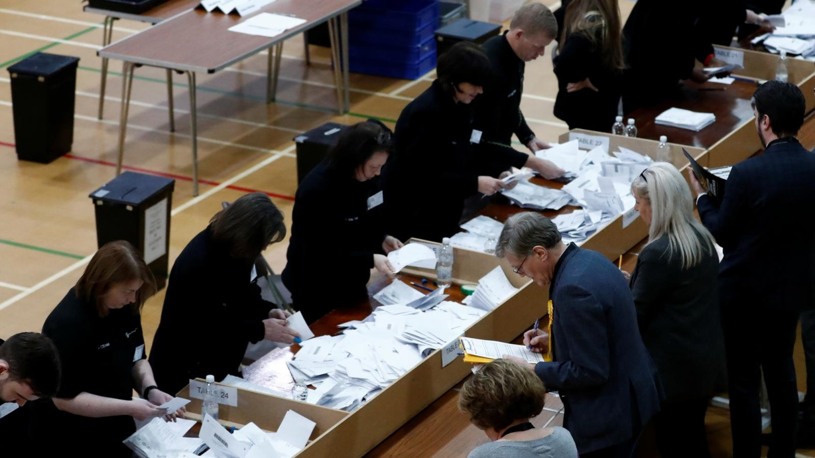 sčítání britských voleb
