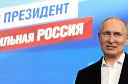 Vladimir Putin po vítězných volbách