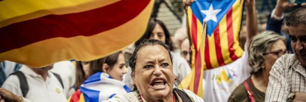 Demonstrace na podporu samostatného Katalánska