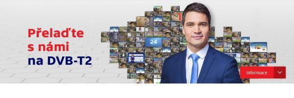 Informace o DVB-T2 na webu ČT
