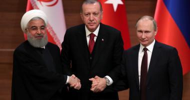 Hasan Rouhání, Recep Tayyip Erdogan a Vladimir Putin v Ankaře