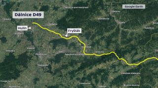 Plánovaná trasa dálnice D49