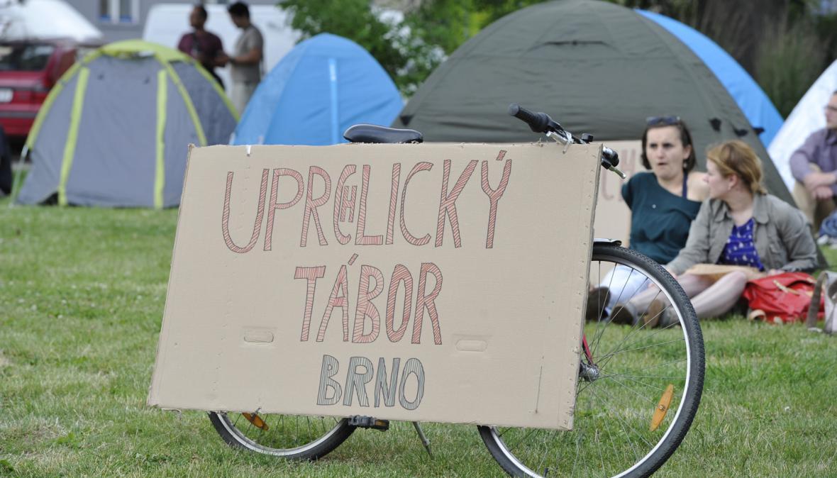 Demonstrace v Brně na podporu uprchlíků