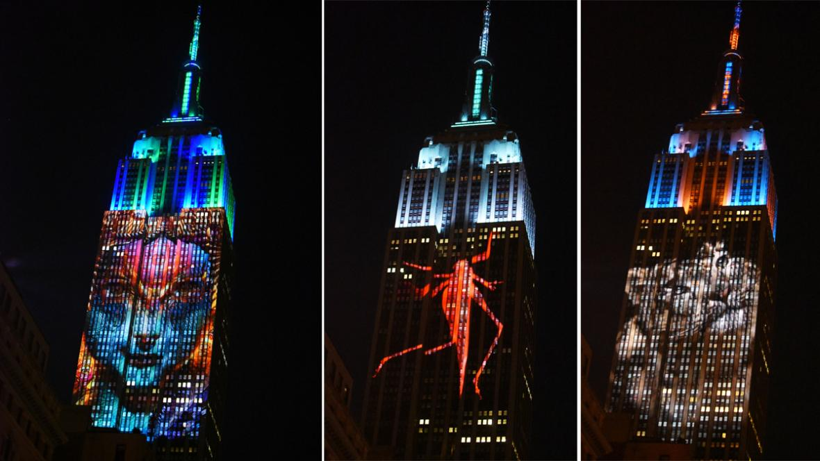 Projekce na Empire State Building