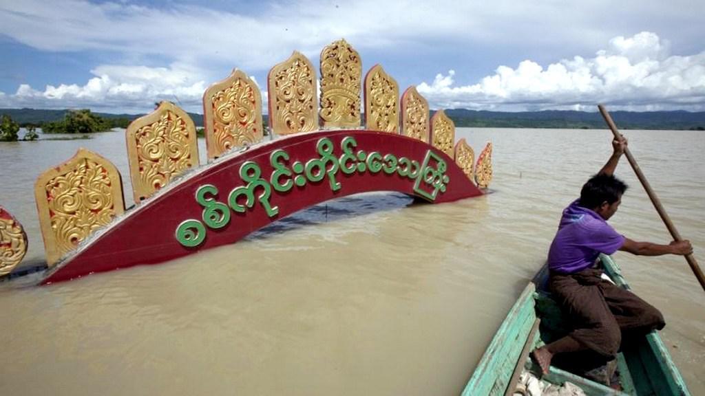S rozsáhlými záplavami lidé zápolí také v Barmě