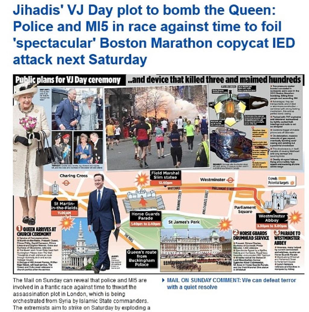 Upoutávka na článek o údajných přípravách na útok proti Alžbětě