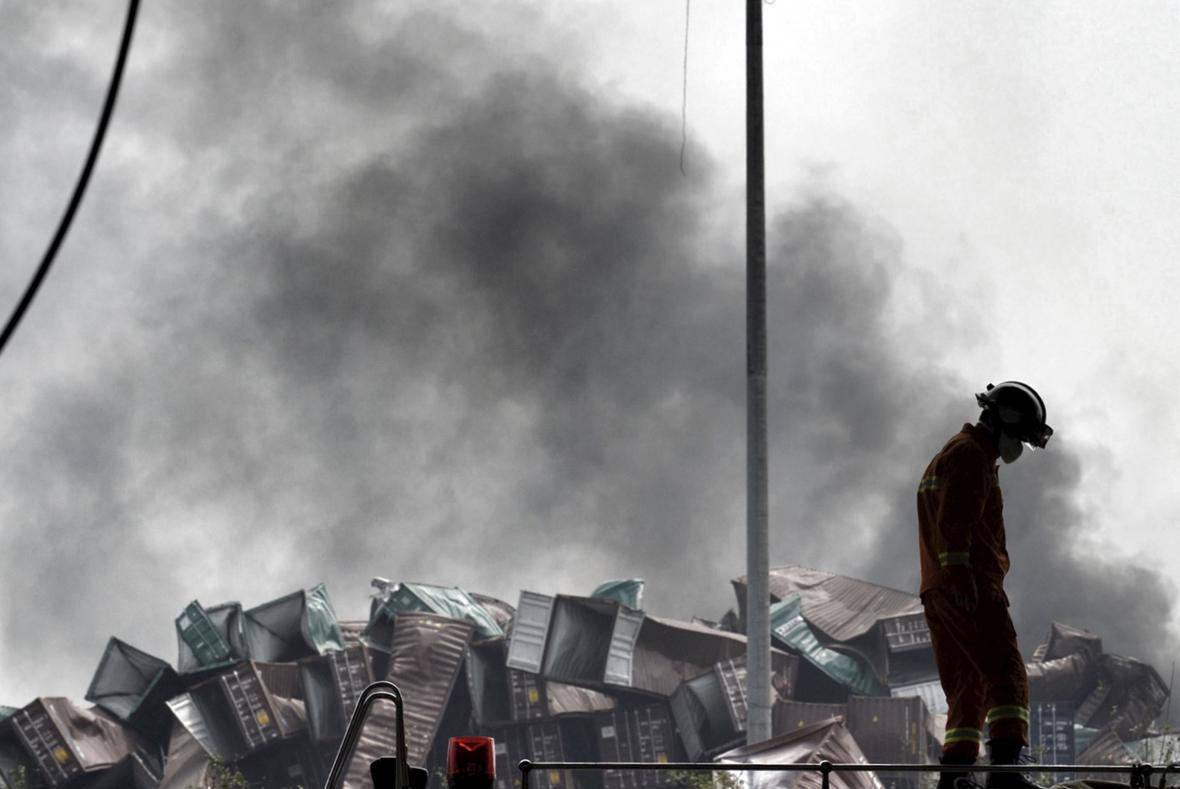 Další exploze v čínském přístavu Tchien-ťin