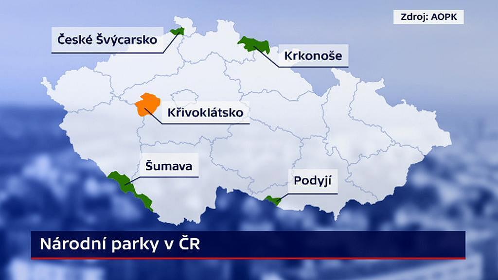 mapa národních parků