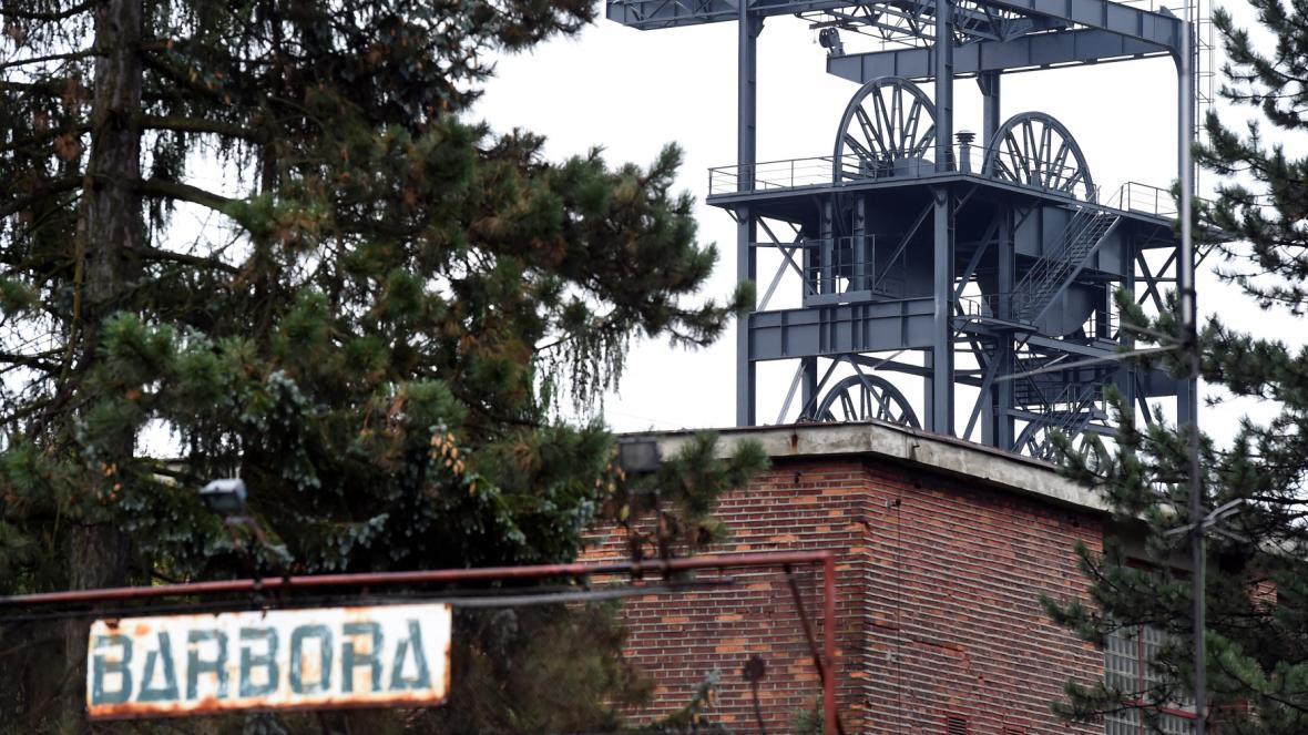 Objekt bývalého dolu Barbora, který je na hranici zóny