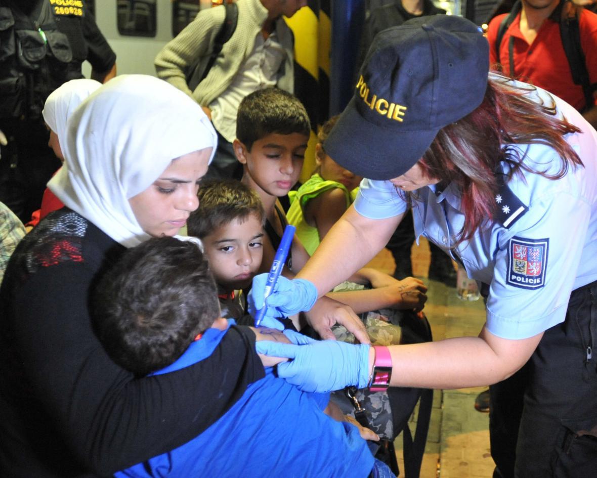 Zadržení migranti v Břeclavi