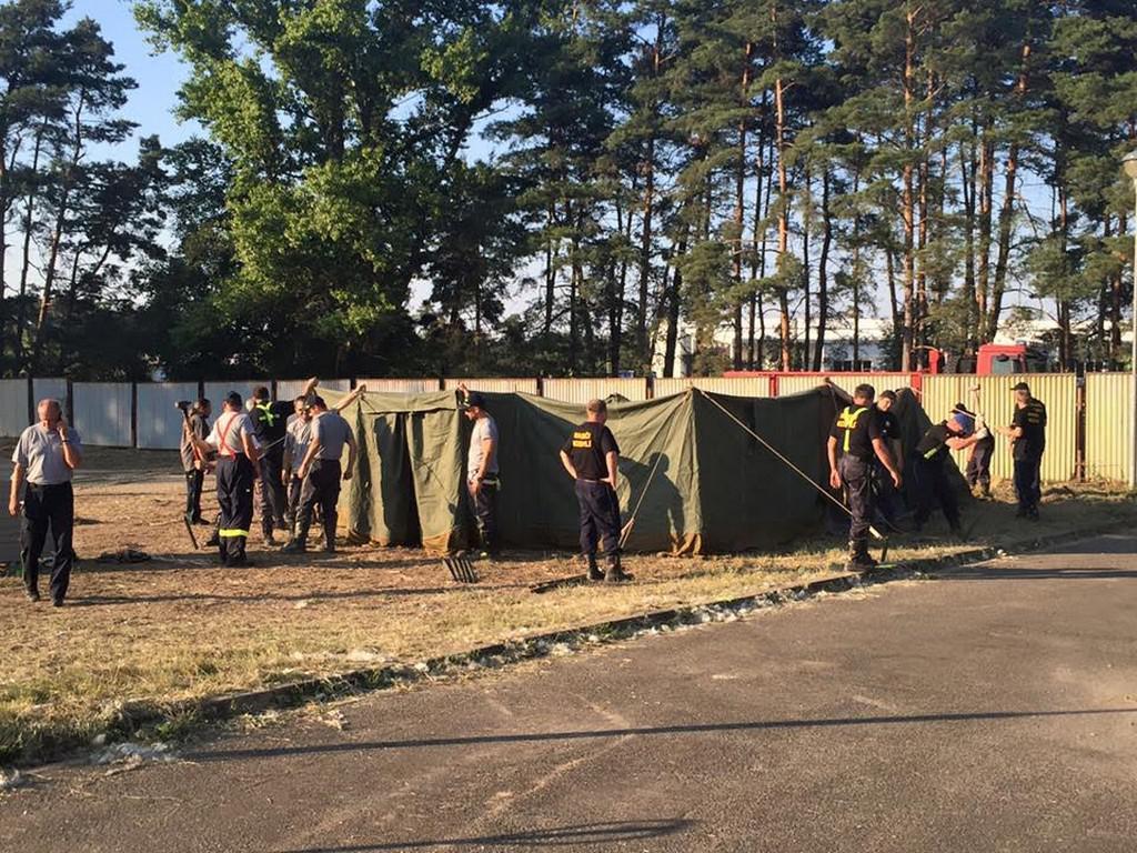 V Poštorné vzniká stanové městečko pro uprchlíky