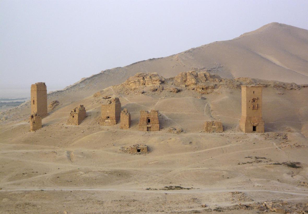 Hrobky v Palmýře údajně zničené islamisty