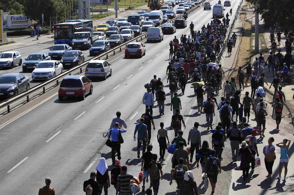 Uprchlický pochod v Maďarsku