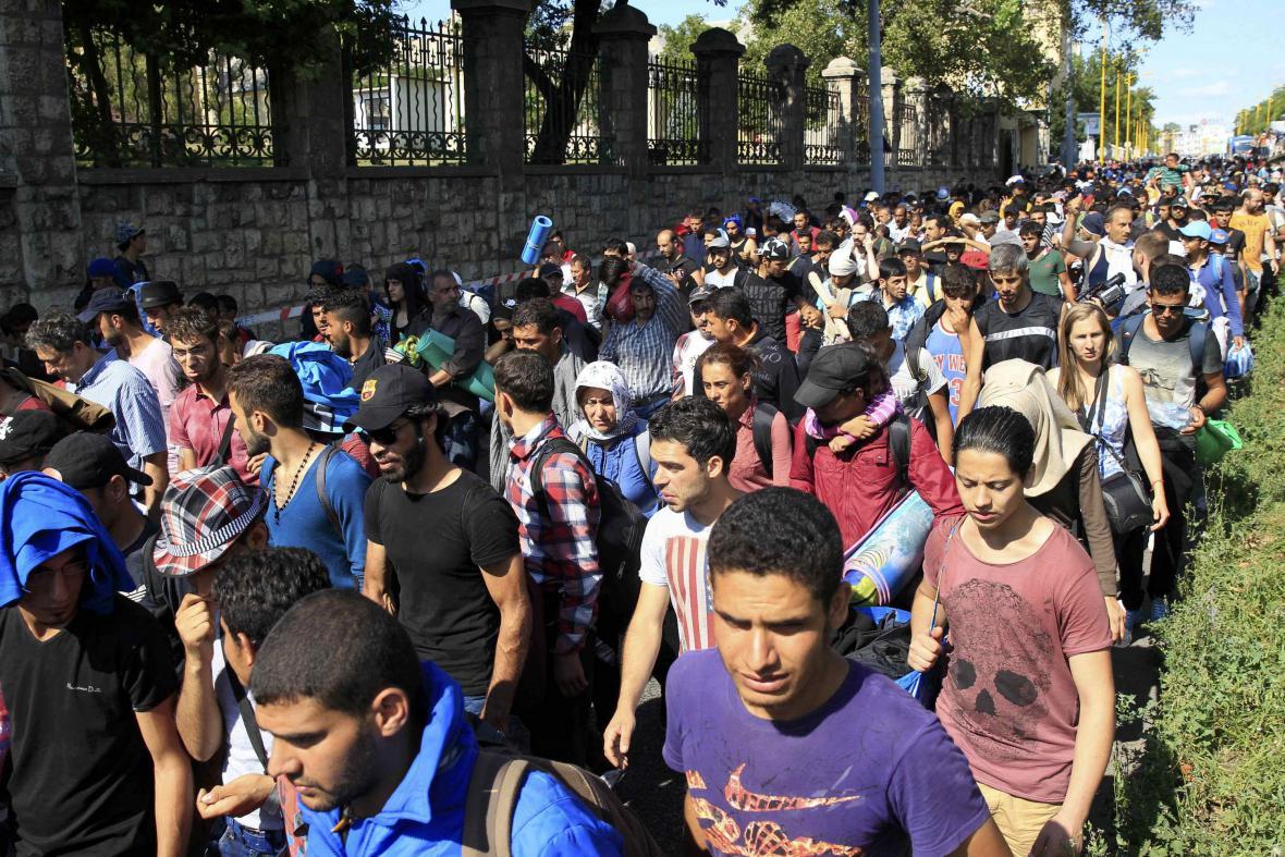 Uprchlický pochod v Budapešti