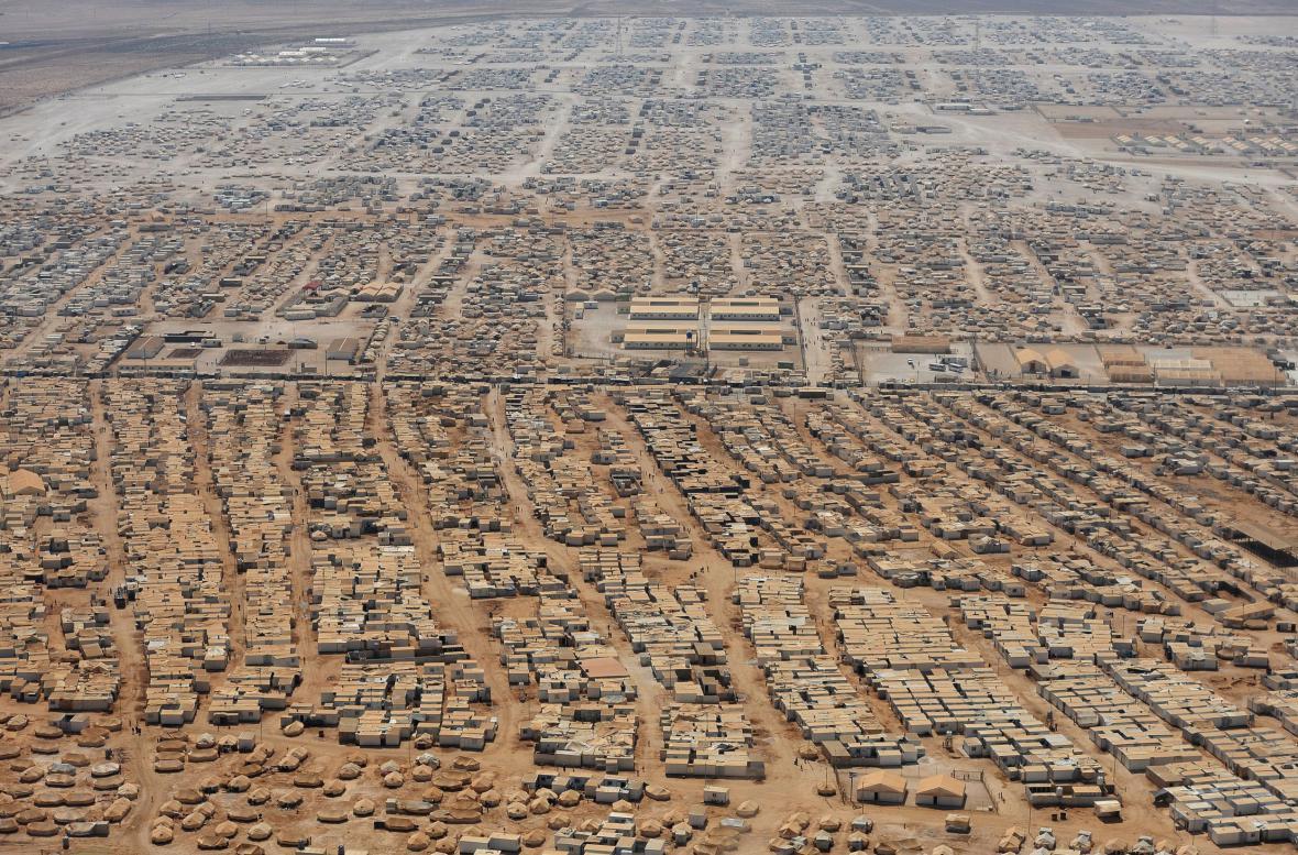 Uprchlický tábor Zatárí v Jordánsku