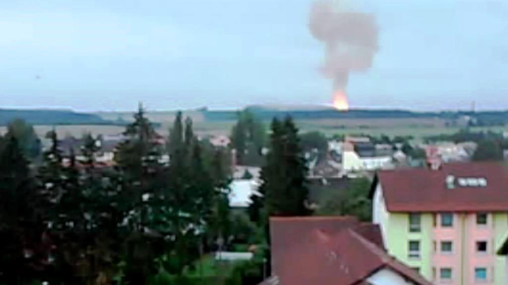 Amatérský záběr výbuchu v Poličce