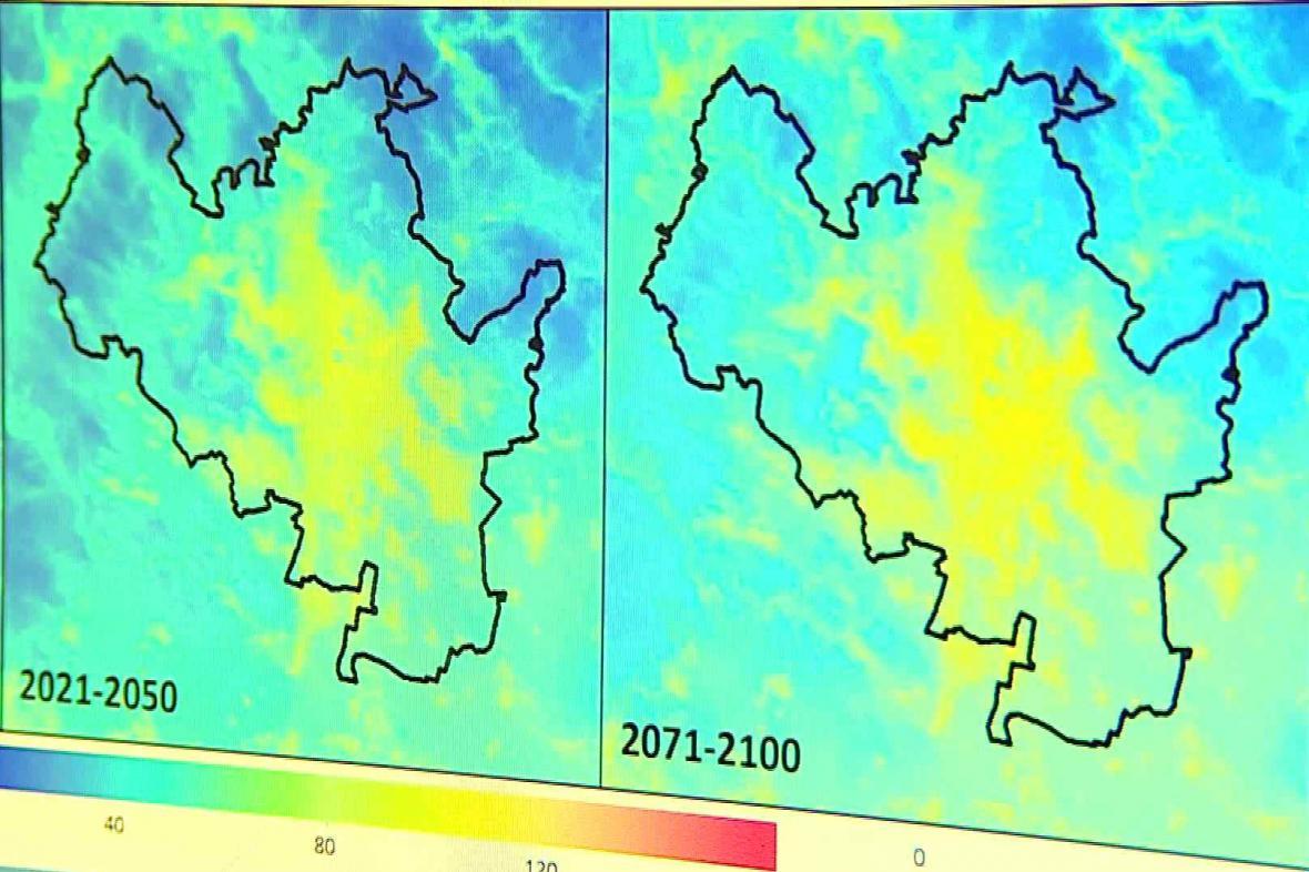 Pravděpodobný vývoj teplot v následujících letech