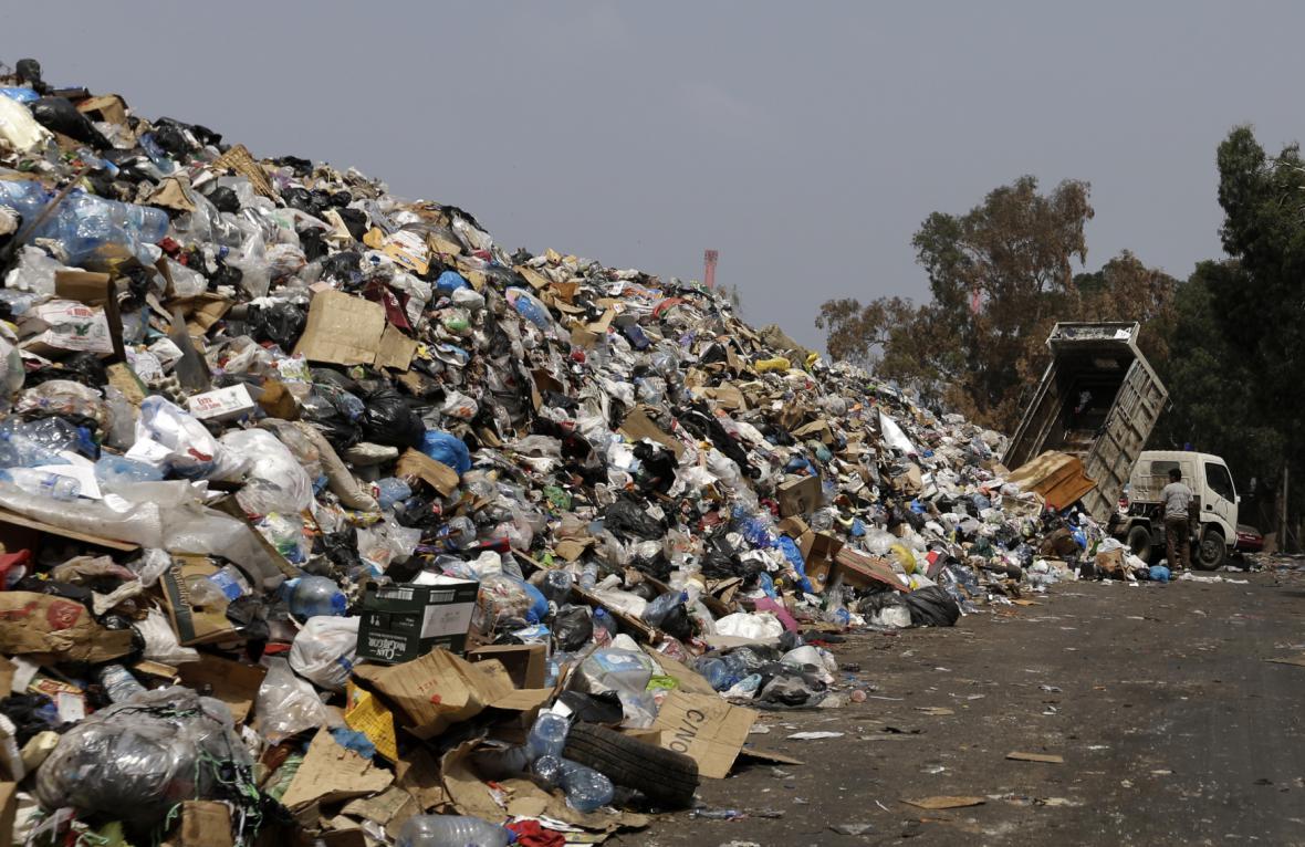 Bejrút je plný odpadků