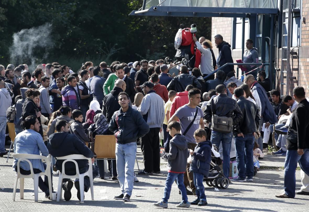 Uprchlíci ve špandavském táboře
