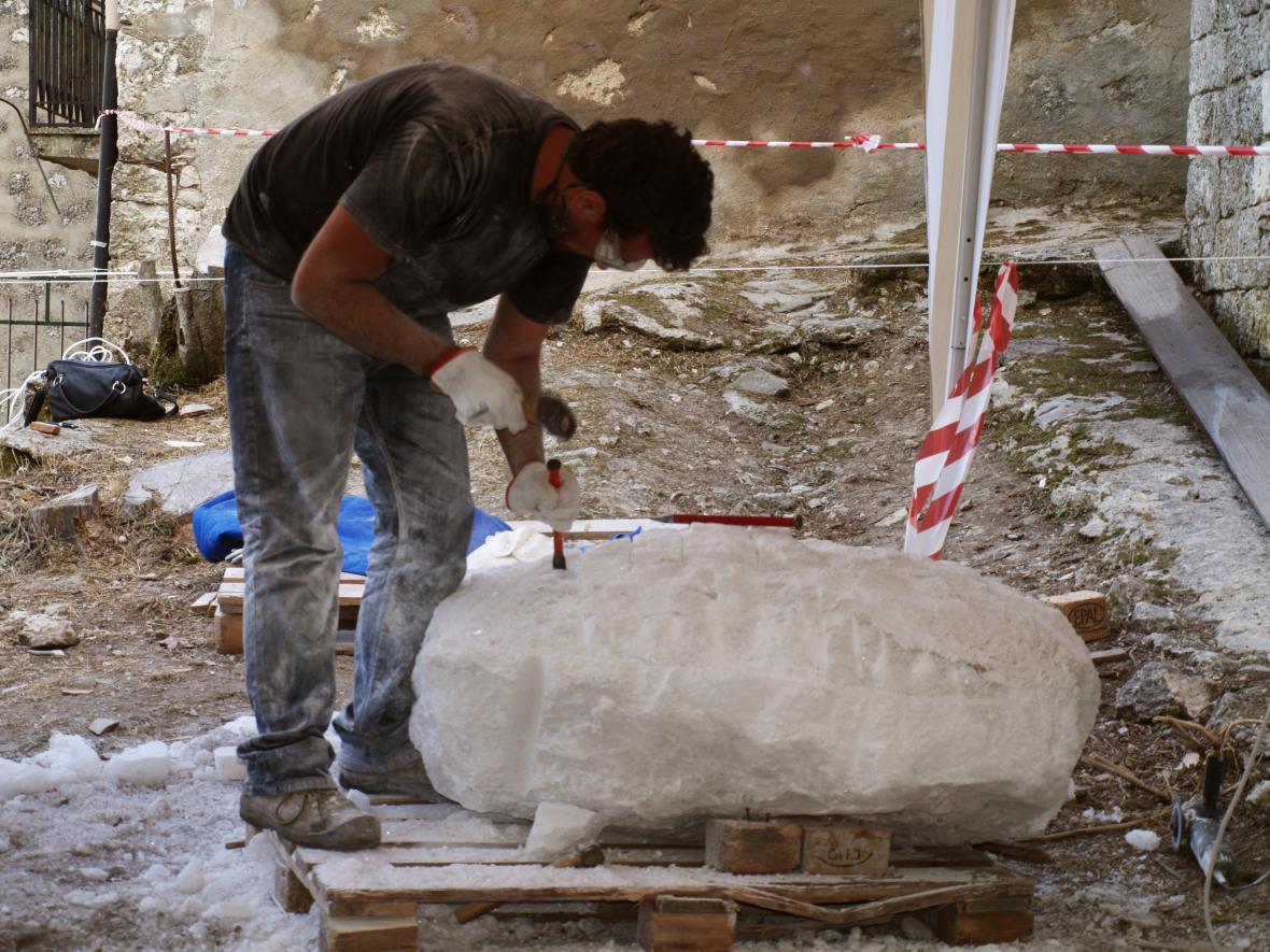 Luca Bonanno při práci